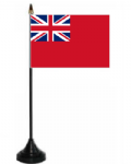 Red Ensign Desk / Table Flag with plastic stand and base.